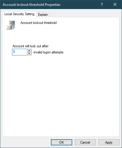 account lockout threshold properties