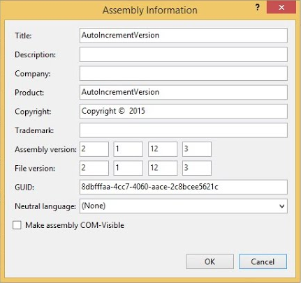 c# auto increment version assembly