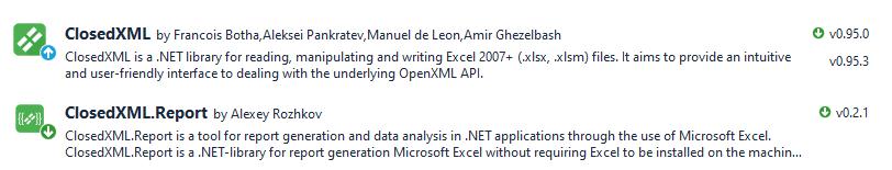 closedxml.report example