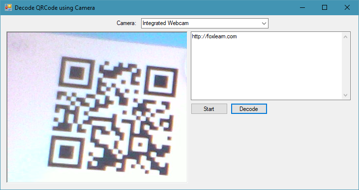 c# qr code reader webcam