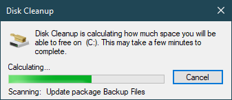disk cleanup process