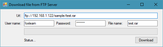 download file using ftp in c#