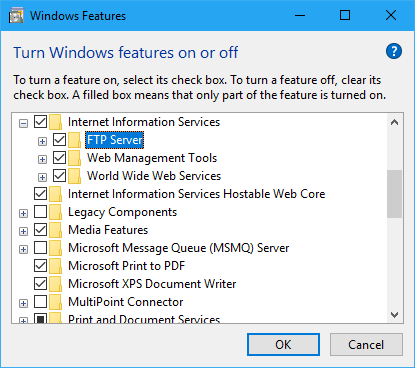 How to Install IIS on Windows 10