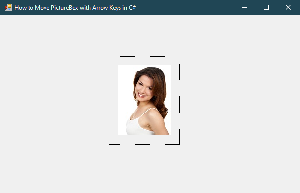 How to Move PictureBox with Arrow Keys in C#