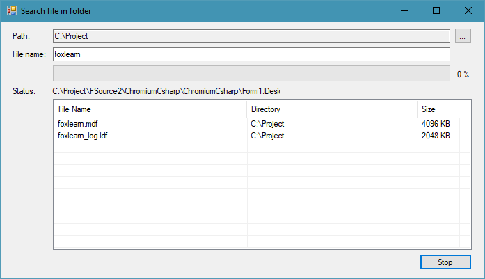 c# search files in directory and subdirectories