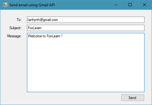 send email using gmail api c#