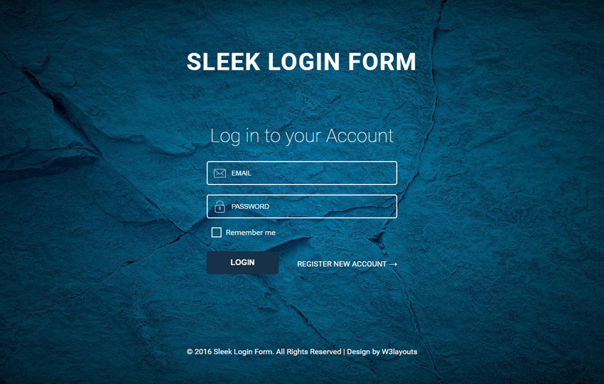 sleek login page