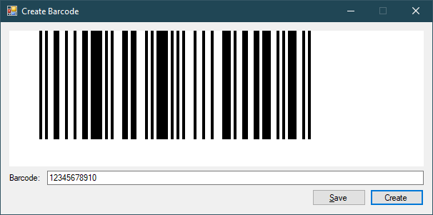 Create Barcode Image in VB.NET