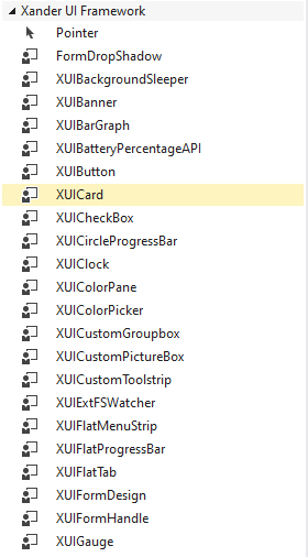 add xander ui framework to visual studio toolbox
